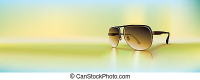 Vector retro sunglasses - Retro sunglasses rendered using ...