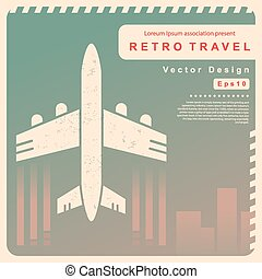 Vector Retro travel illustration