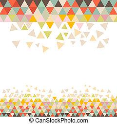 Vector Retro Triangle Background
