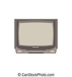 Vector retro tv flat icon isolated. Vintage television front view illustration. Electric design display