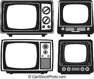 retro tv set - vector retro tv set