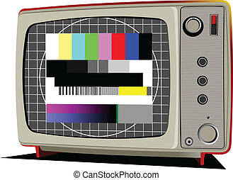 Vector Retro TV with color frame