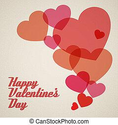 Vector retro valentines card