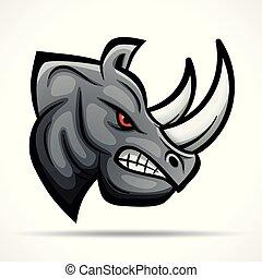 Vector rhino head mascot concept