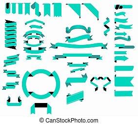 Vector Ribbon Big Collection Sets
