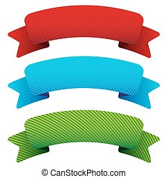 Vector ribbon set