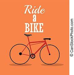 vector, rijden, illustratie, fiets, ontwerp