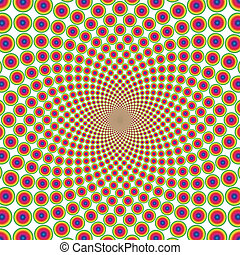 Vector ring optical illusion background (EPS)