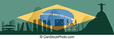 vector Rio de Janeiro skyline
