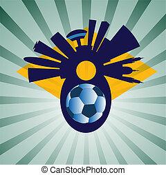 vector Rio de Janeiro with ball