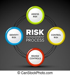Vector Risk management process diagram