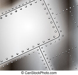 Vector riveted metal background