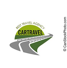 Vector road icon for tourist travel agency