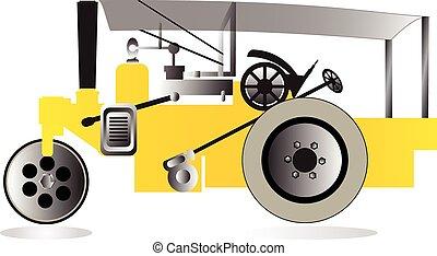 Vector road roller