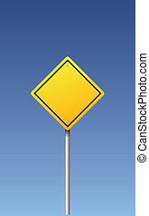 Vector road sign - blank