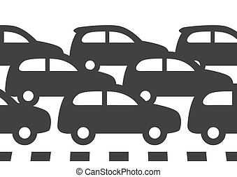 vector road traffic car jam