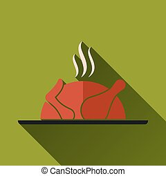 Vector Roasted Chicken Icon