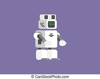 vector, robot, illustratie