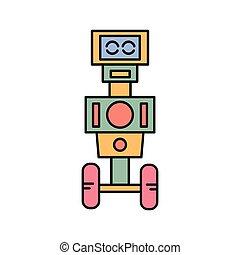 vector, robot, pictogram