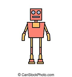 vector, robot, pictogram