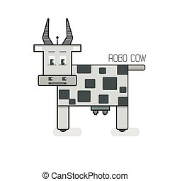 Vector robotic cow illustration
