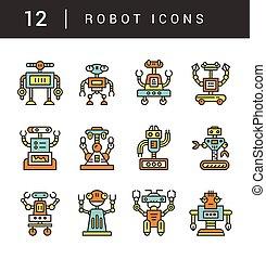 Vector robots collection