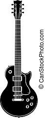 vector rock electric guitar
