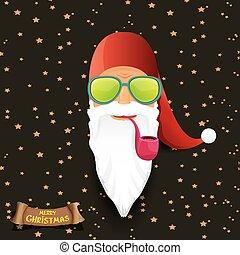 vector rock n roll santa claus