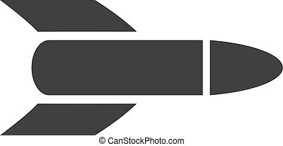 Vector Rocket Flat Icon Symbol