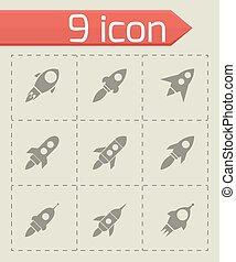 Vector rocket icon set