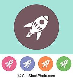 Vector rocket icon