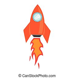 Vector rocket space ship icon