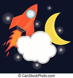 Vector rocket space ship icon