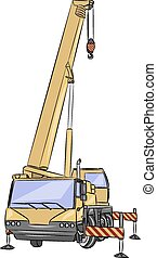 vector, rodado, crane.