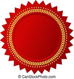 vector, rojo, certificado