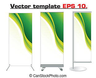 Vector roll up banner design