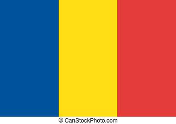 Vector Romania flag