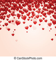 Vector Romantic Background - Vector Illustration of a...