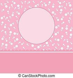 Vector romantic card