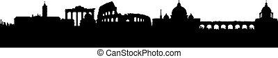 Vector - Rome Silhouette