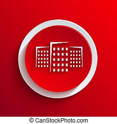 vector, rood, cirkel, icon., eps10