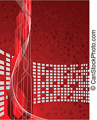 vector, rood, futuristisch, achtergrond