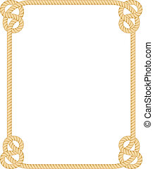 Rope Border - Vector Rope Border isolated on white ...