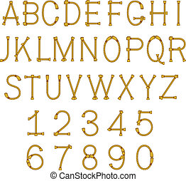 vector rope letters alphabet - vector rope letters abc ...