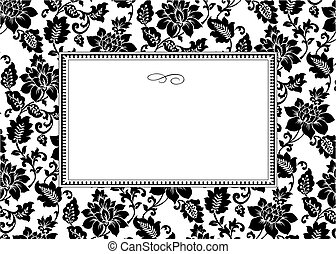 Vector Rose Background and Frame