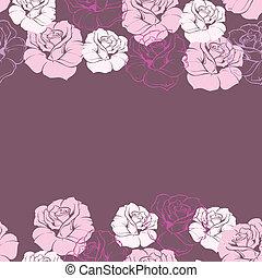 Vector rose floral background