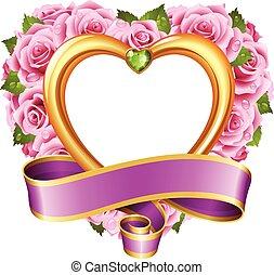 Vector rose frame