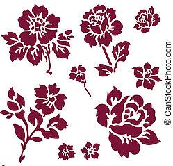 Vector Rose Icon Set