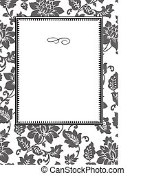 Vector Rose Pattern and Frame