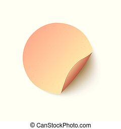 Vector round blank adhesive sticker flat icon